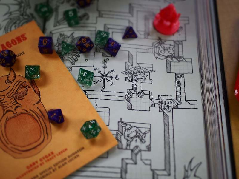 Dungeons and Dragons playing board.