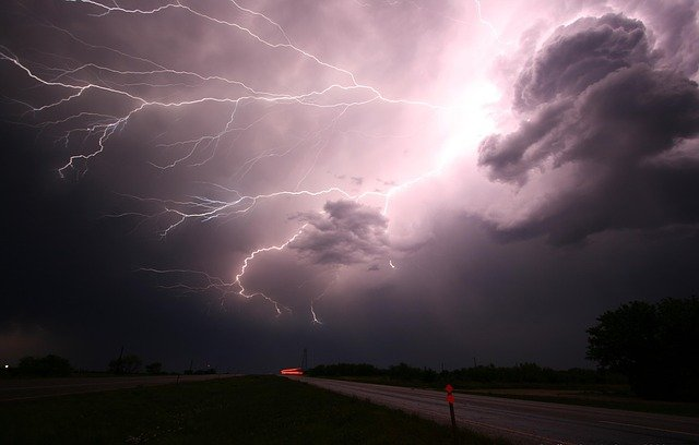Thunderstorms are most common in hot and humid climates where air pressure can build up.