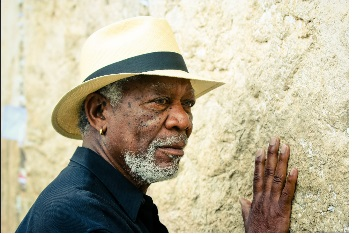 Morgan Freeman has travelled around the world for his documentary 'The Story of God'.