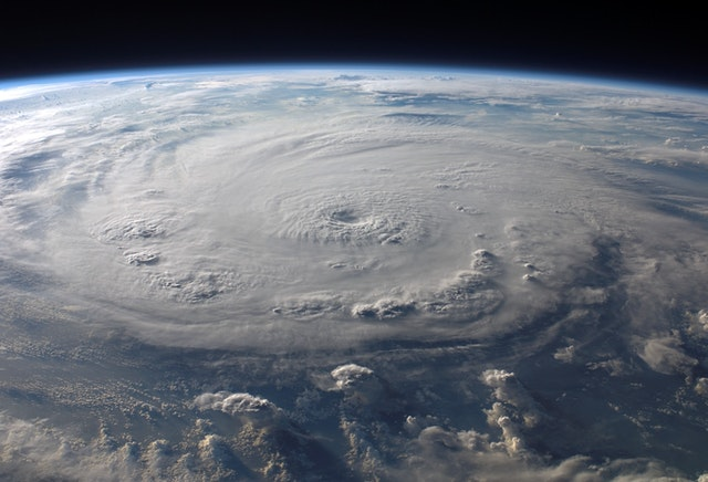 Hurricanes are tropical storms that form at sea.