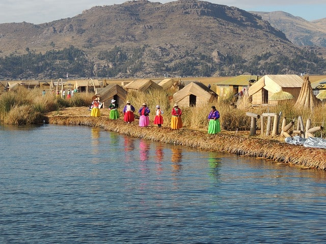 The Uros floating islands on Lake Titicaca are made by hand and can last for over 30 years.