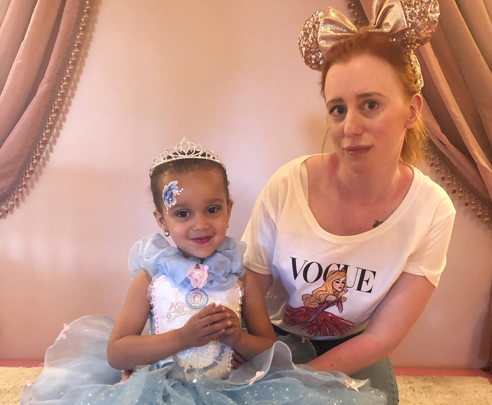 Emma Hayes and her daughter getting in the Disney spirit.