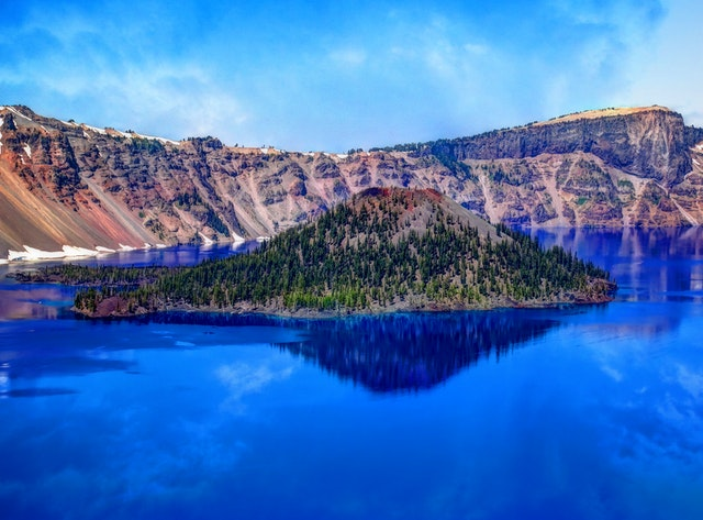 Crater Lake is the deepest lake in America.