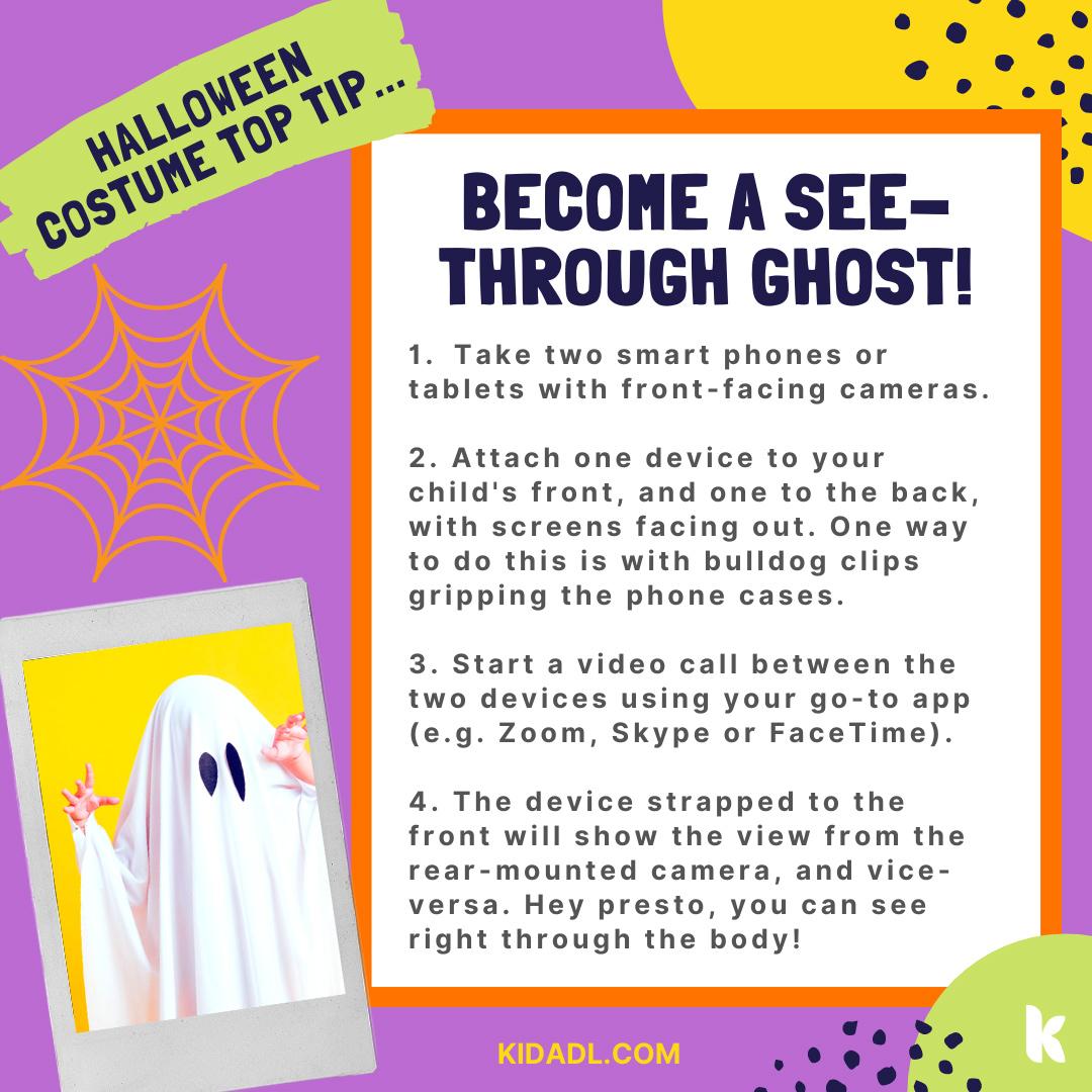 Ghost costume hack.