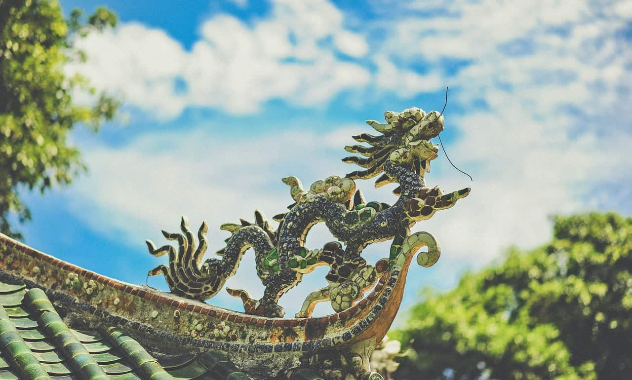 You can see dragons in ancient folklores and fictional tales.