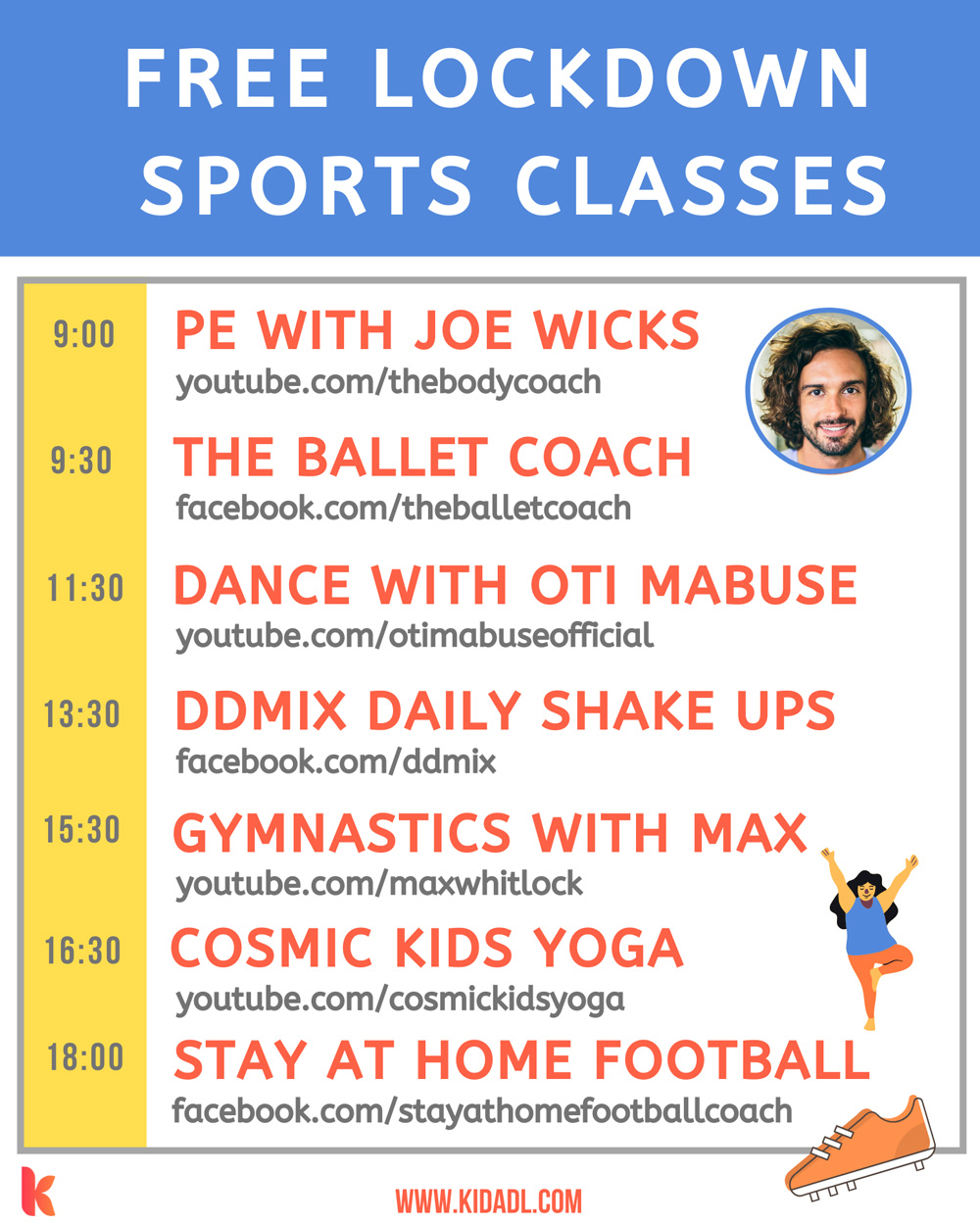 Sports classes for kids.