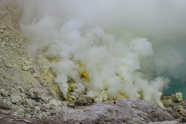 Sulfur can be found in volcanic eruptions.