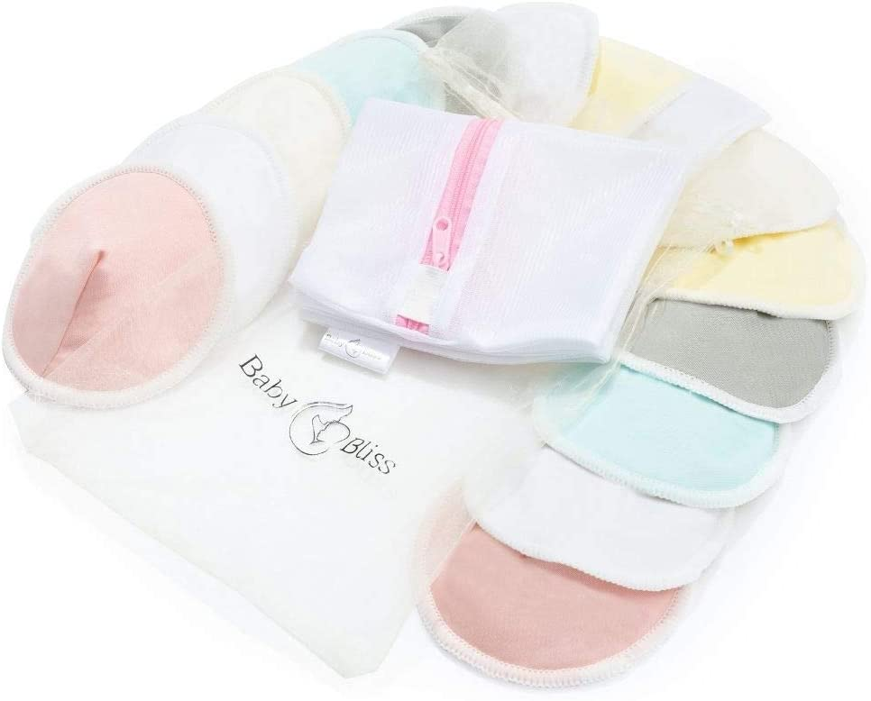 Baby Bliss Organic Bamboo Reusable Nursing Pads.
