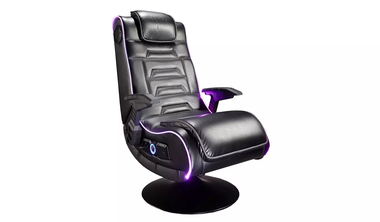 X Rocker Evo Pro 2.1 Audio Neo Fibre LED Gaming Chair.