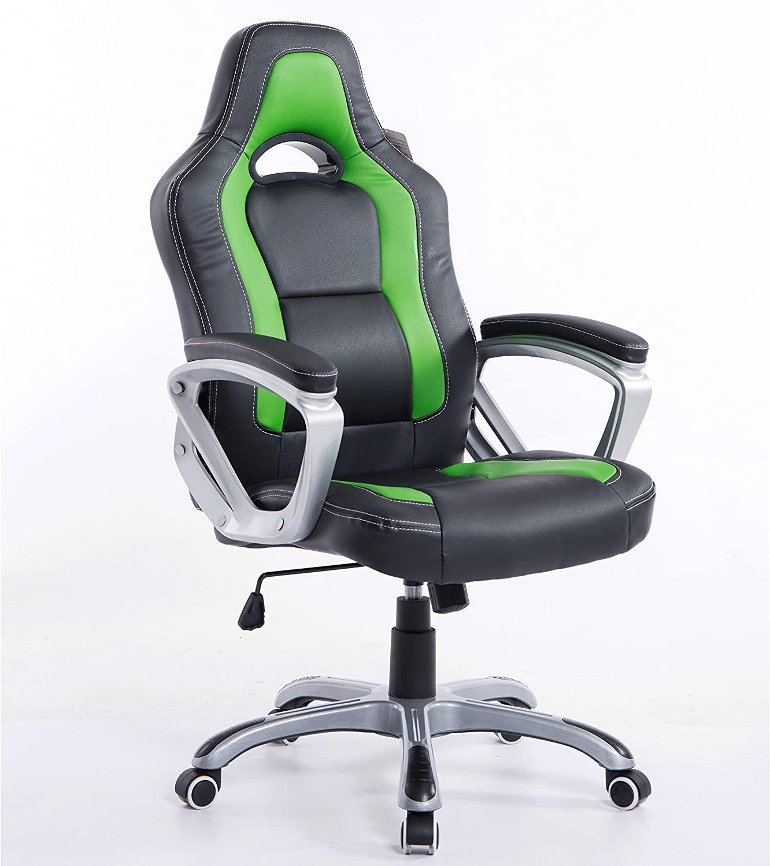 Cherry Tree Furniture Racing Sport Swivel Computer Desk Chair.