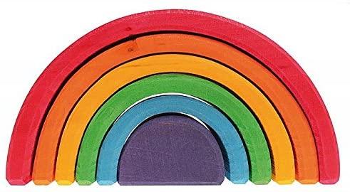Grimm's 6 Piece Wooden Rainbow.