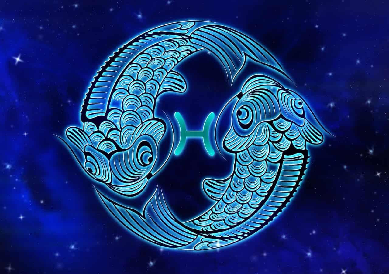 The symbol for Pisces is two fish.