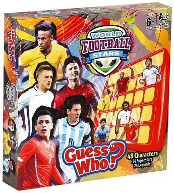 Football Guess Who World Stars Board Game.