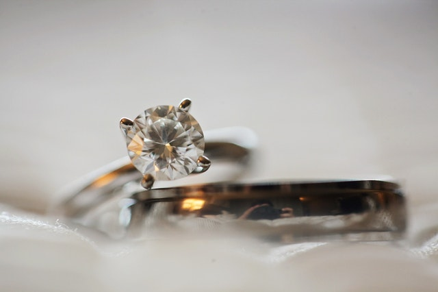 Diamonds are traditionally used as engagement rings.