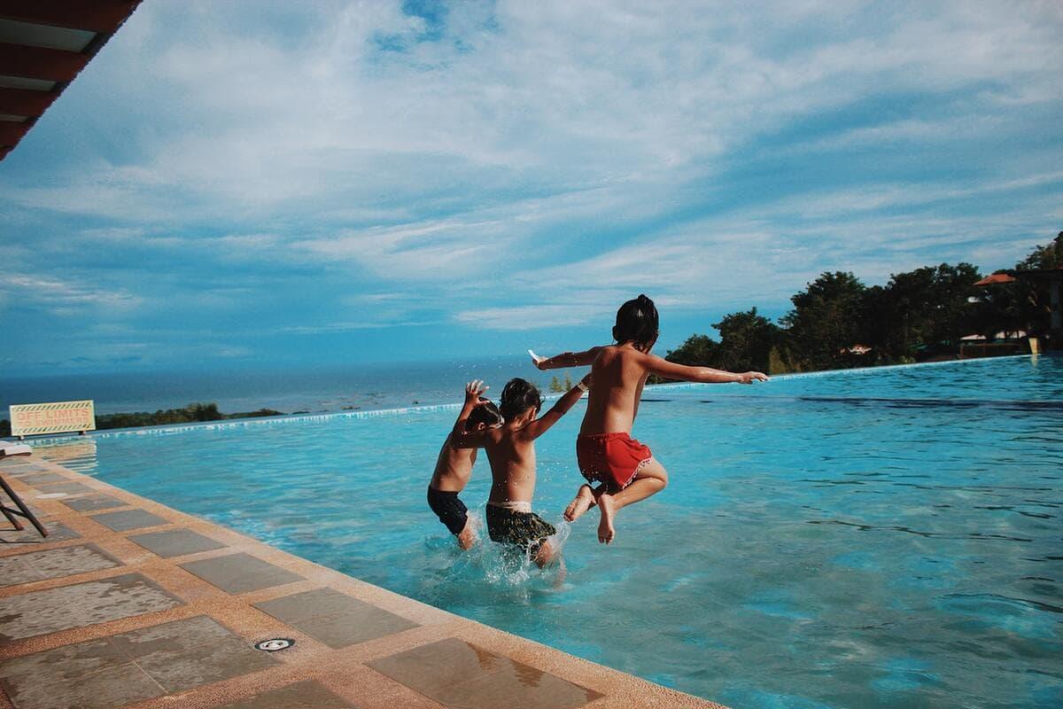 Chlorine is used to clean pools.