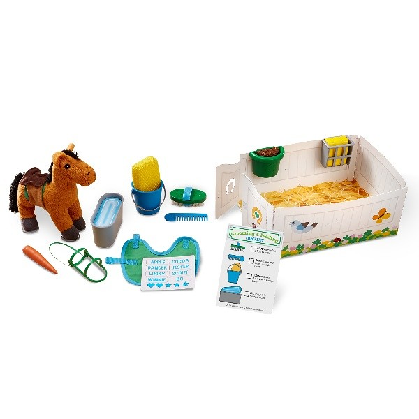 Melissa & Doug Feed & Groom Horse Care Play Set - Amazon.