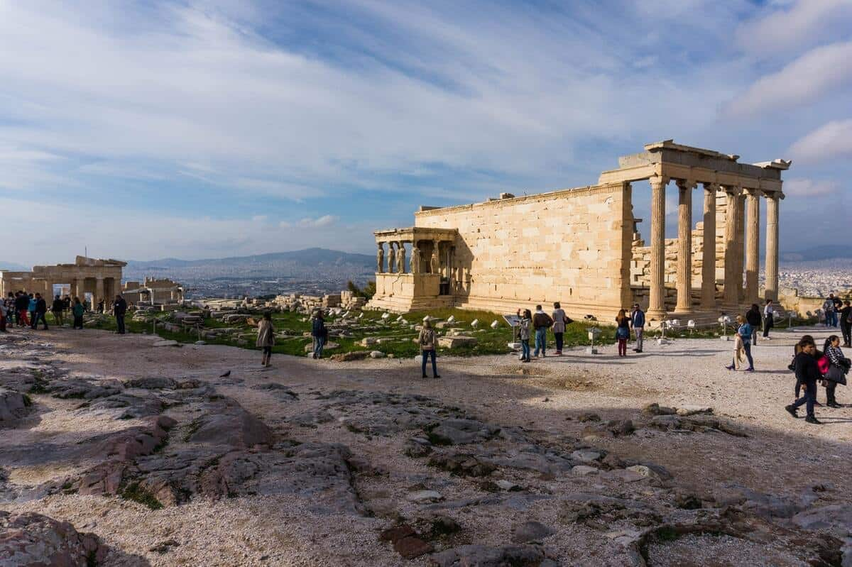 In the middle of the Acropolis of Athens sits the Parthenon, dedicated to the Goddess Athena.