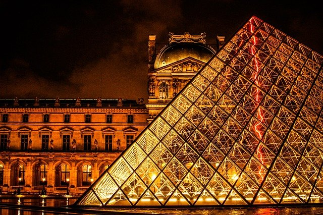 The Louvre was originally a fortress.