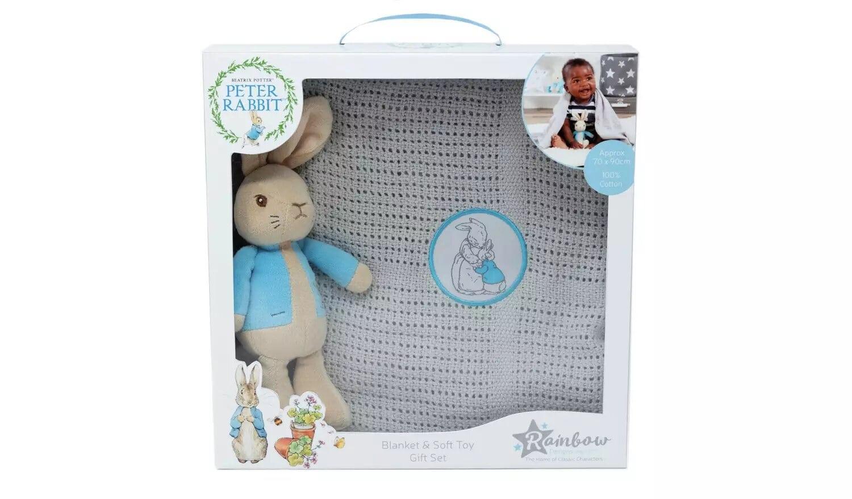 Beatrix Potter Peter Rabbit Toy & Blanket.