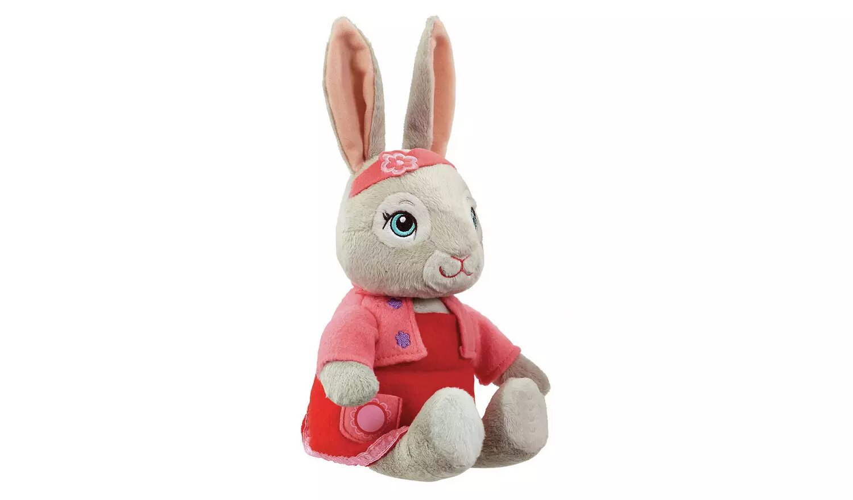 Beatrix Potter Peter Rabbit Talking Lily TV Soft Toy.