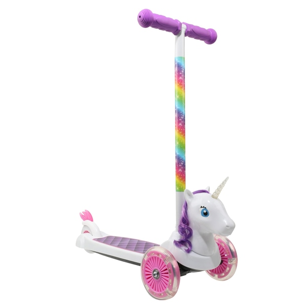 Lights And Sound Unicorn Scooter. 