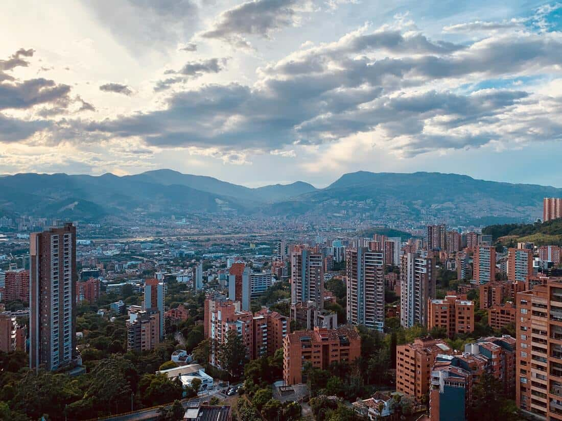 77.1% of Colombia's population live in urban areas.