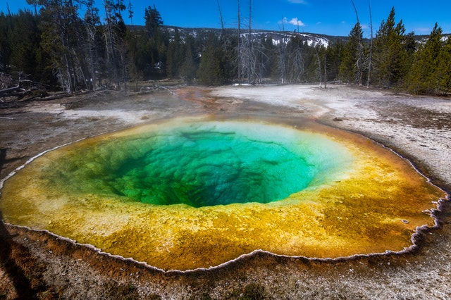 Yellowstone National Park is the only land-based supervolcano in the world.