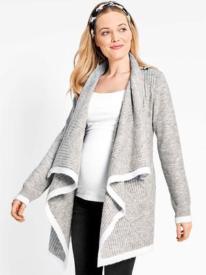 Marl Grey Drape Maternity & Nursing Cardigan - Jojo Maman Bebe.