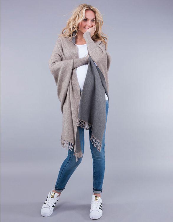 Two-Tone Luxury Maternity & Nursing Shawl Wrap - Seraphine.