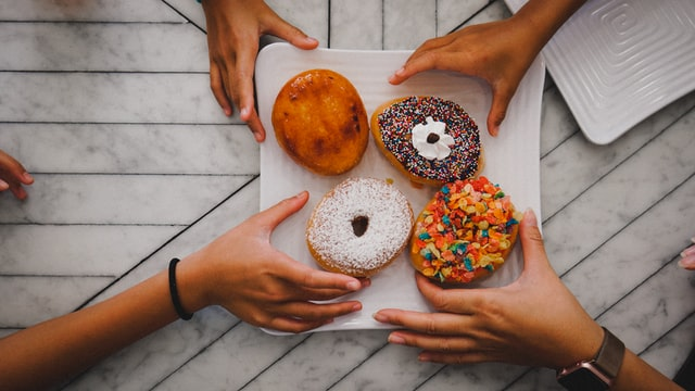 Donut sprinkle or icing jokes can also help start some really good funny conversations.