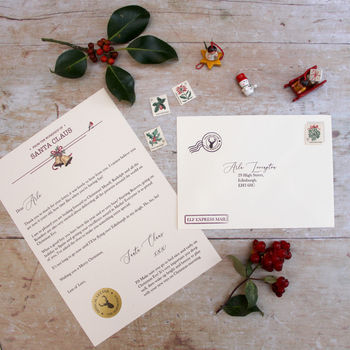 Personalised Letter From Santa Claus - Love Paper Wishes.