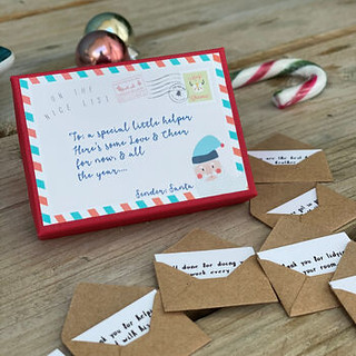 Children's 12 Mini Letters From Santa - Hendog Designs.