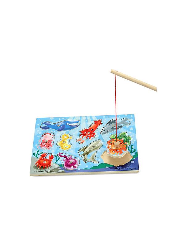 Melissa & Doug Magnetic Wooden Fishing Game - Amazon.