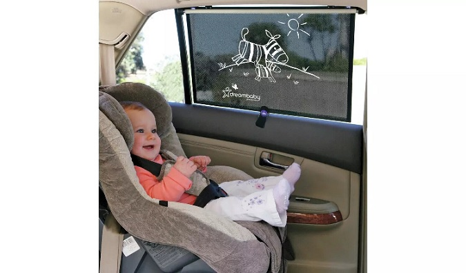 Dreambaby Extra-Wide Car Window Roller Blinds.