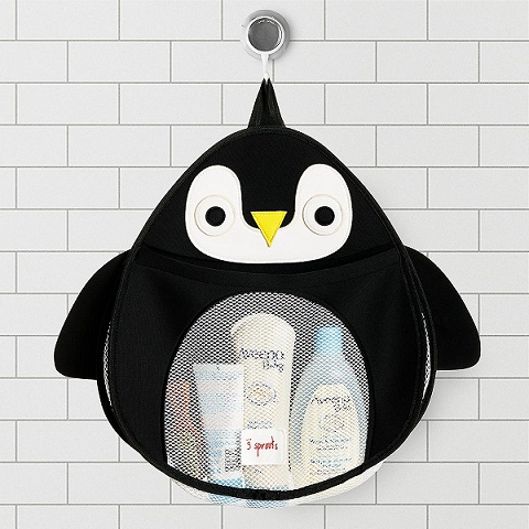 3 Sprouts Penguin Bath Toy Organiser.