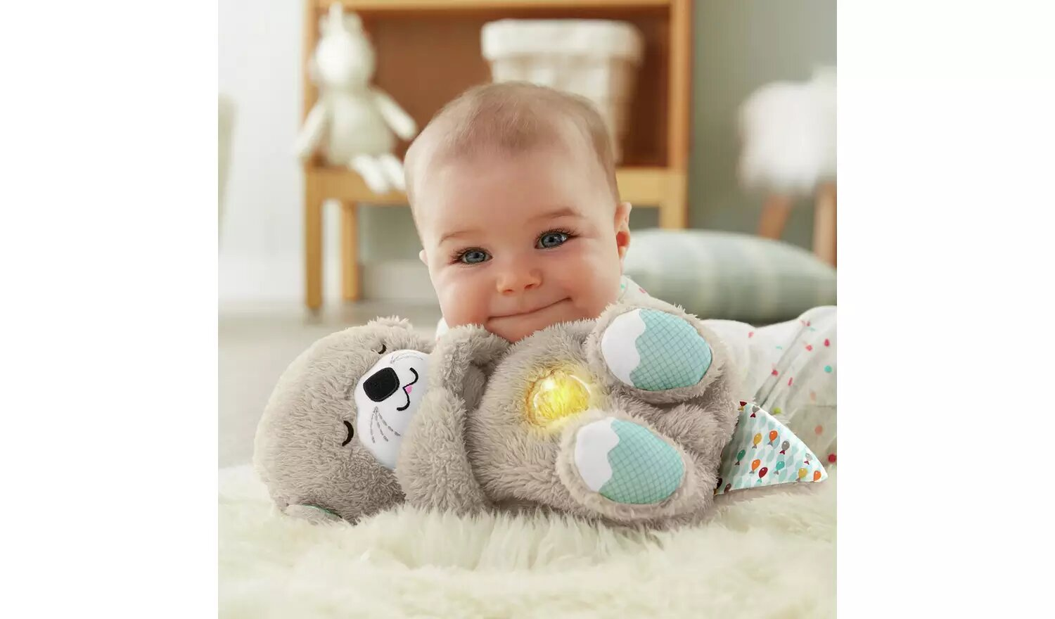 Fisher-Price Soothe'n Snuggle Otter Baby Toy.