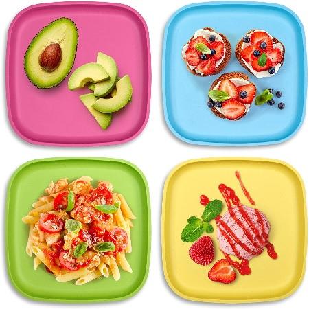 GET FRESH Bamboo Kids' Plates 4-Pack.