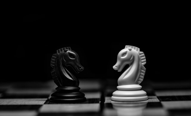 A chess pun can only be either black or white; the choice is yours to make.