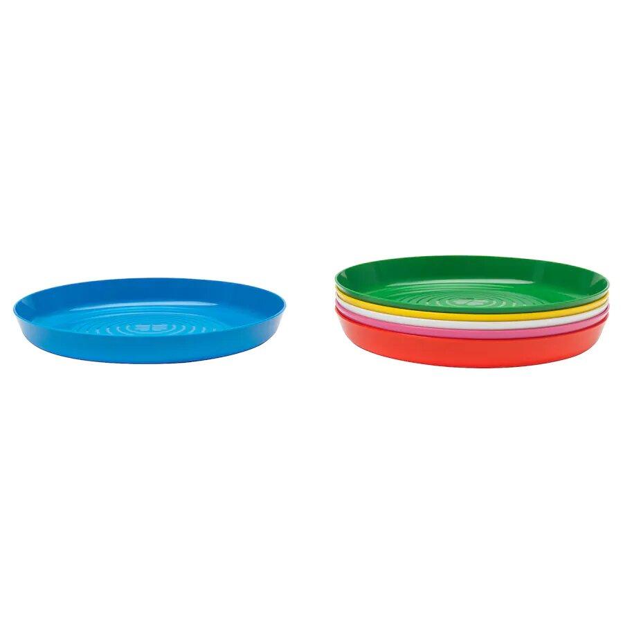 IKEA Kalas Multicoloured Kids' Plastic Plates 6-Pack.
