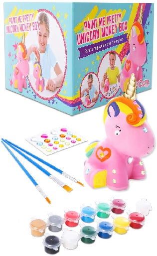 GirlZone Paint Your Own Unicorn Money Box.
