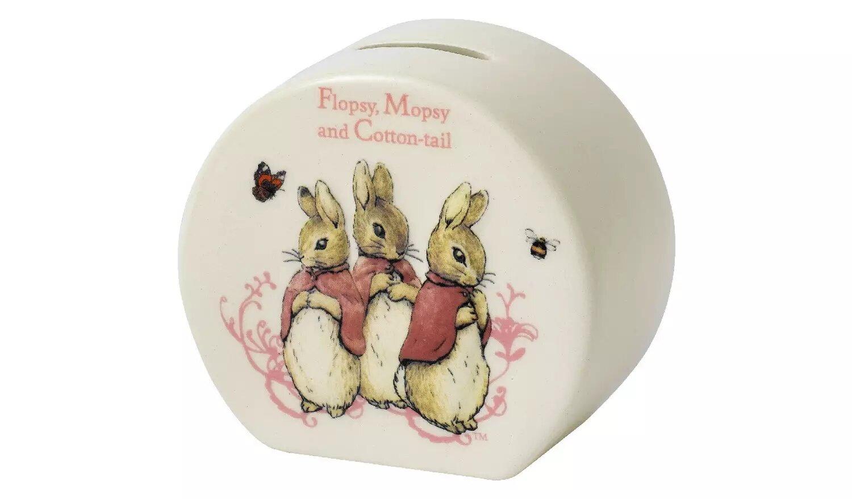 Beatrix Potter Flopsy, Mopsy & Cotton Tail Money Bank.