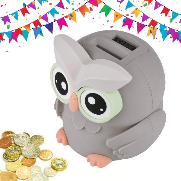 LarmTek Owl Piggy Bank.