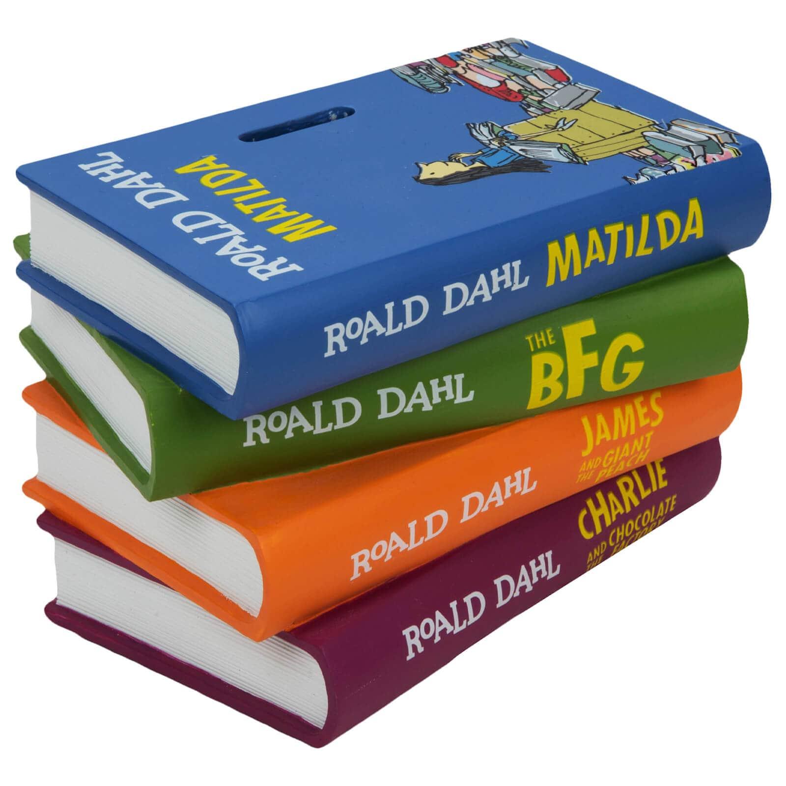 Roald Dahl Pile Of Books Money Box.