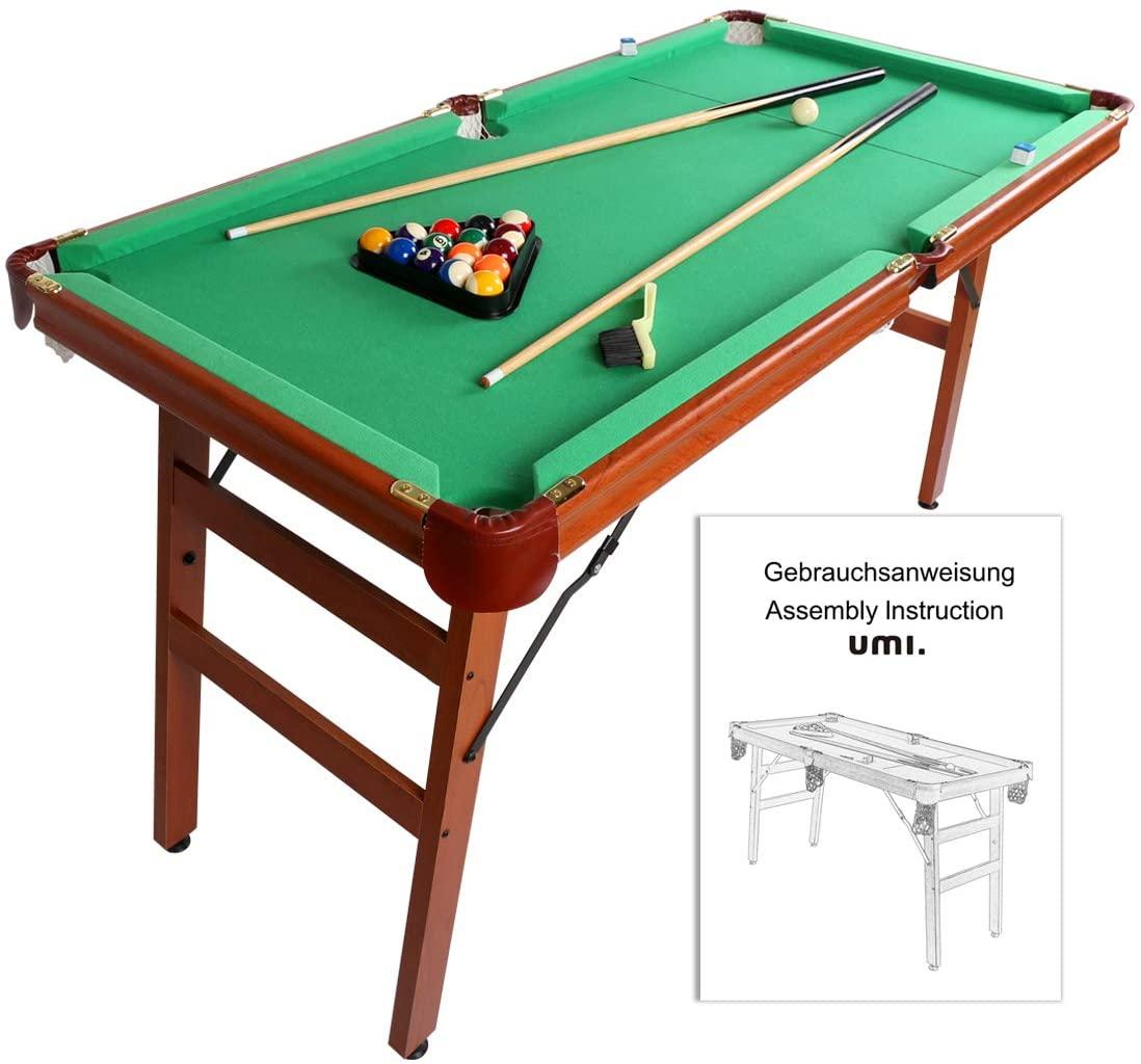 Umi Essentials Folding Pool Table.