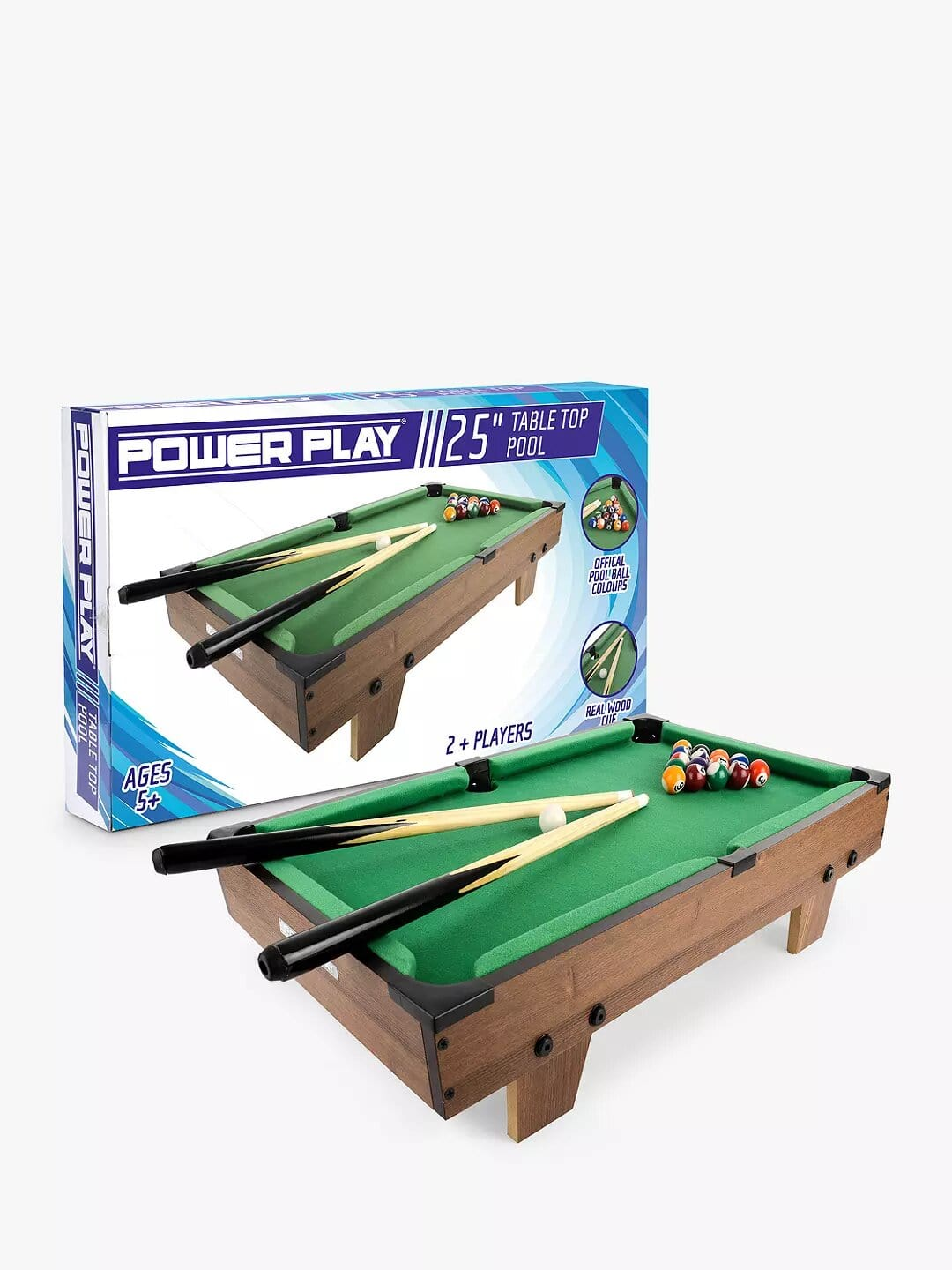 """Toyrific Power Play 25"""" Table Top Pool."""
