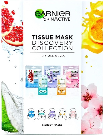 Garnier Tissue Mask Discovery Collection.