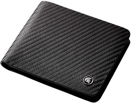 POWR RFID Blocking Carbon Fibre Bi-fold Leather Wallet.