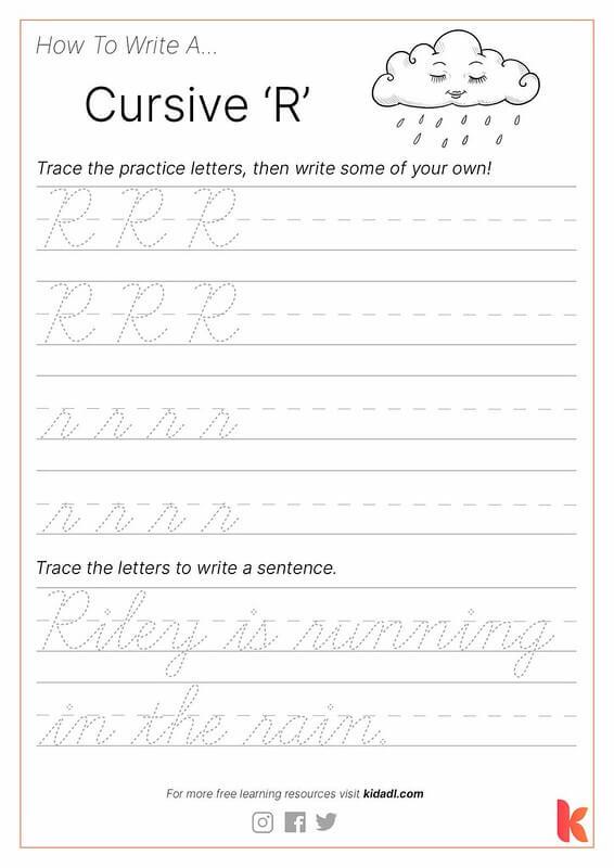 Cursive R Worksheet.