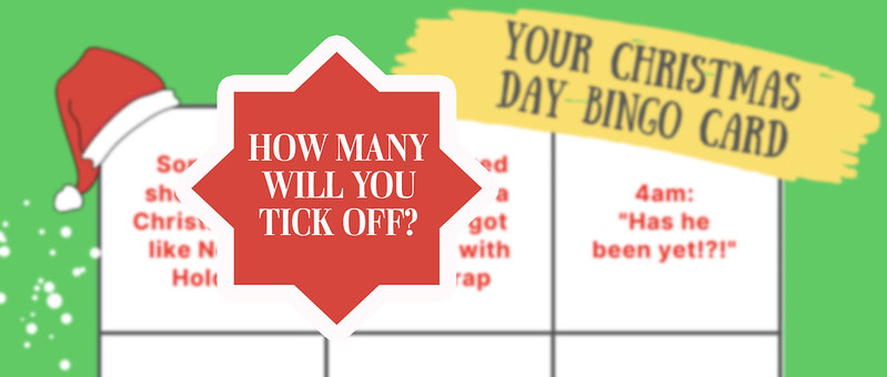 Christmas Bingo Card for family fun.