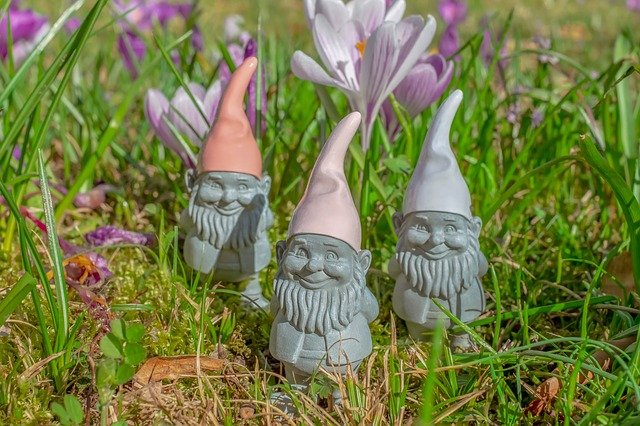 The gnomes are very creative and are full of strength.